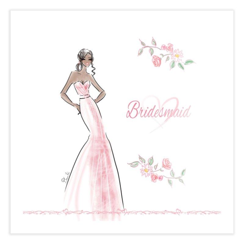 Bridesmaid - Pink Dress - 1 Home Fine Art Print by Deanna Kei's Artist Shop