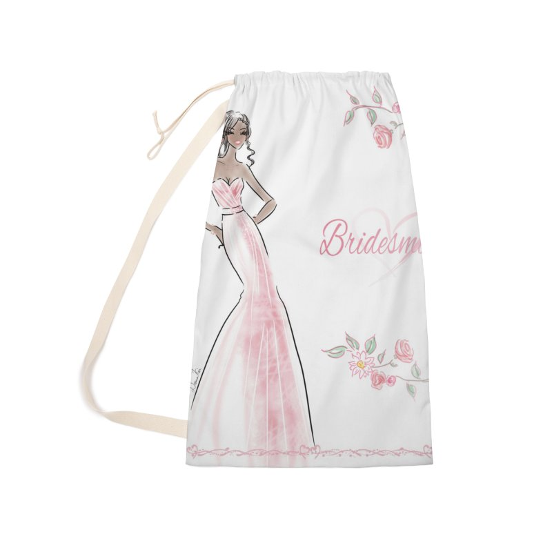 Bridesmaid - Pink Dress - 1 Accessories Laundry Bag Bag by deannakei's Artist Shop