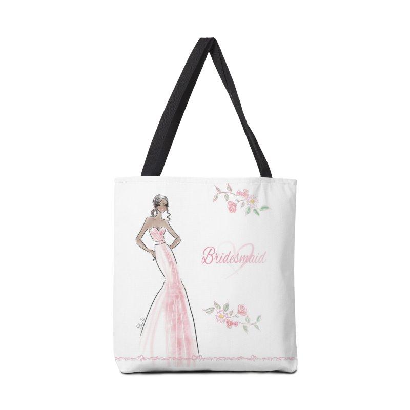 Bridesmaid - Pink Dress - 1 Accessories Tote Bag Bag by deannakei's Artist Shop