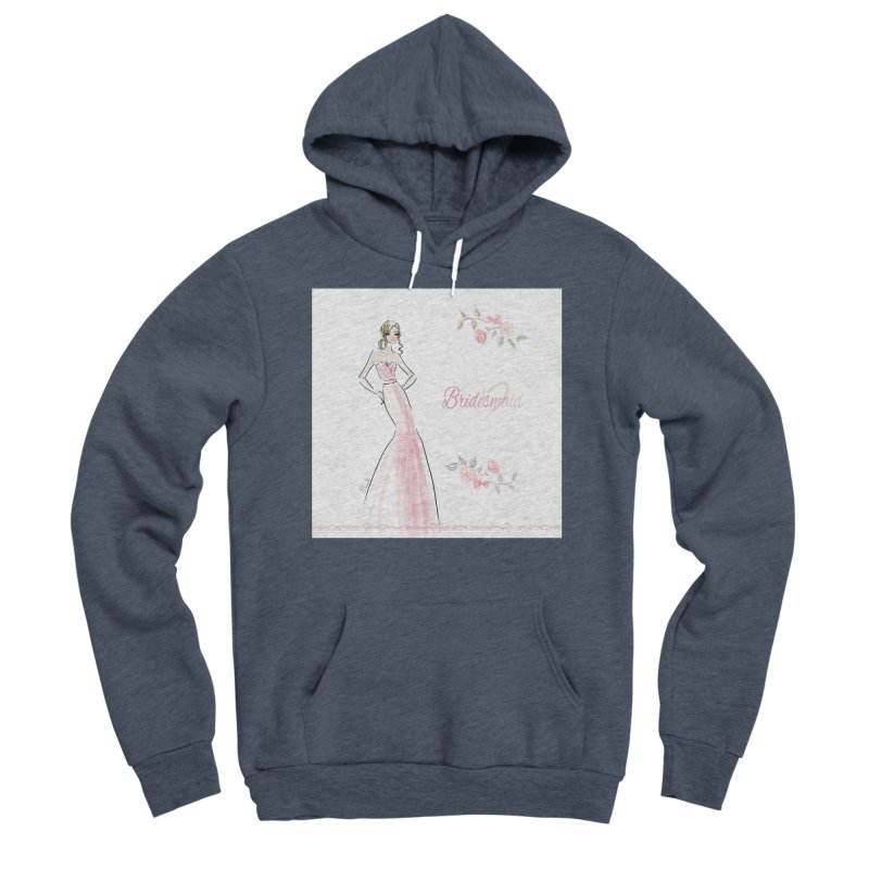 Bridesmaid - Pink - 2 Women's Sponge Fleece Pullover Hoody by Deanna Kei's Artist Shop