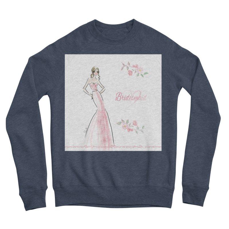 Bridesmaid - Pink - 2 Women's Sponge Fleece Sweatshirt by deannakei's Artist Shop