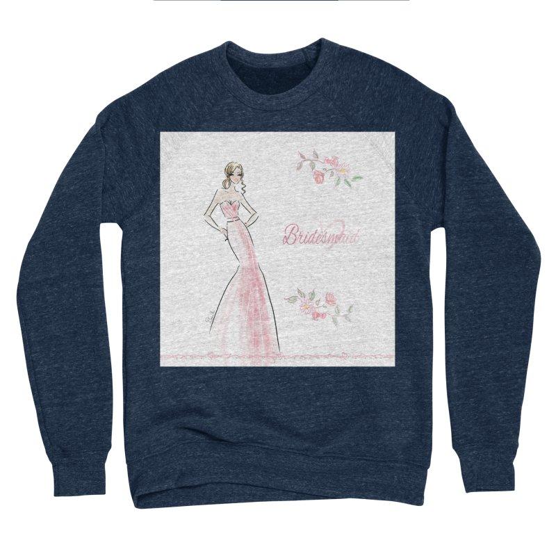 Bridesmaid - Pink - 2 Women's Sponge Fleece Sweatshirt by Deanna Kei's Artist Shop