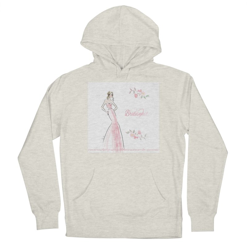 Bridesmaid - Pink - 2 Women's French Terry Pullover Hoody by Deanna Kei's Artist Shop