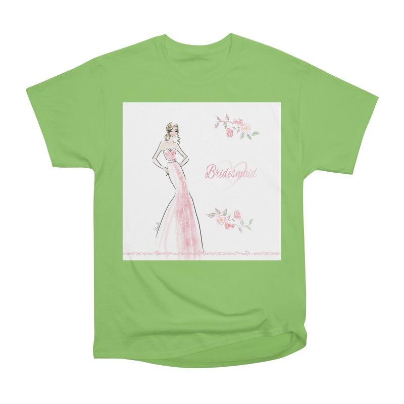 Bridesmaid - Pink - 2 Women's Heavyweight Unisex T-Shirt by Deanna Kei's Artist Shop