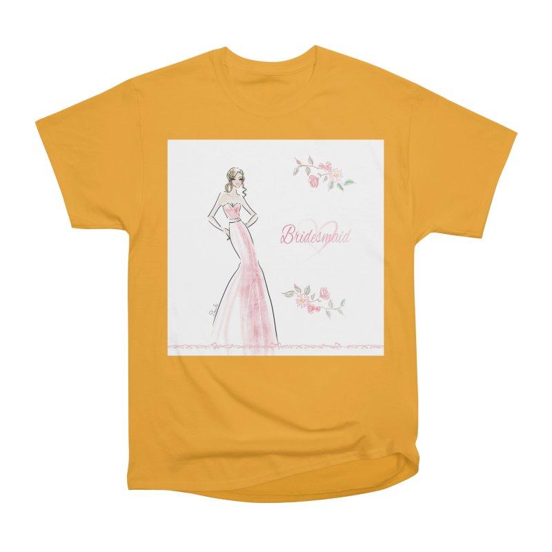 Bridesmaid - Pink - 2 Women's Heavyweight Unisex T-Shirt by deannakei's Artist Shop