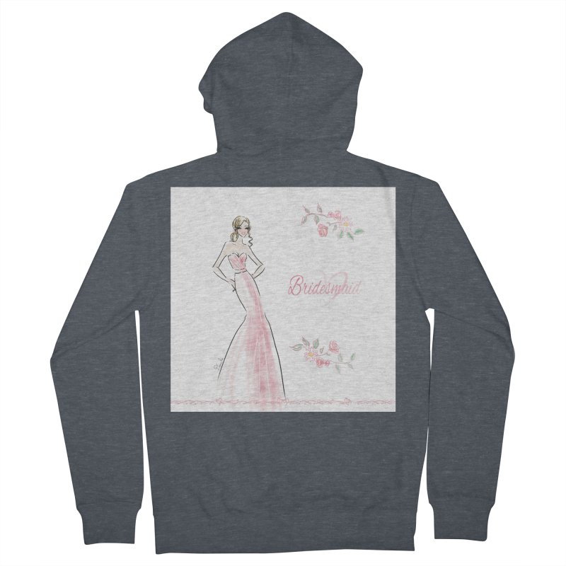 Bridesmaid - Pink - 2 Women's French Terry Zip-Up Hoody by Deanna Kei's Artist Shop
