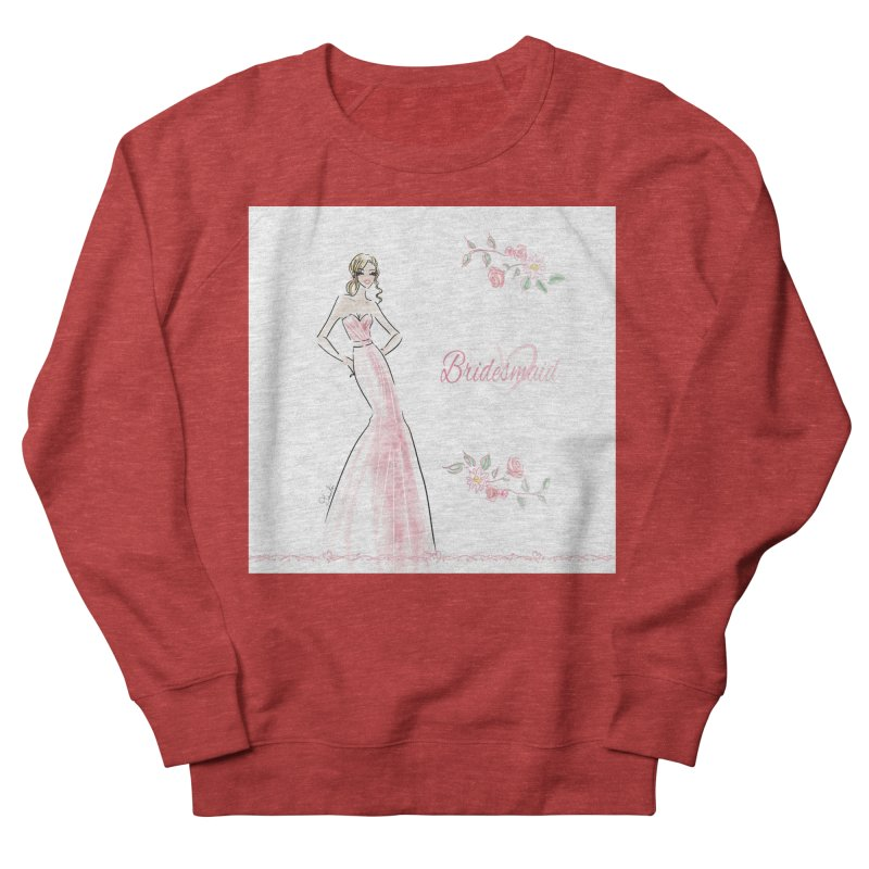 Bridesmaid - Pink - 2 Women's French Terry Sweatshirt by Deanna Kei's Artist Shop