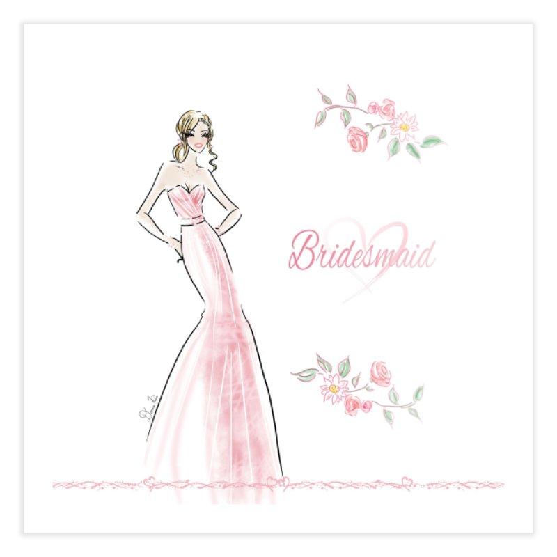 Bridesmaid - Pink - 2 Home Fine Art Print by deannakei's Artist Shop