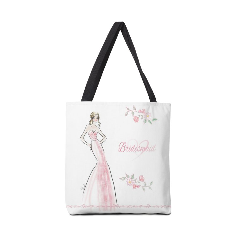 Bridesmaid - Pink - 2 Accessories Bag by Deanna Kei's Artist Shop
