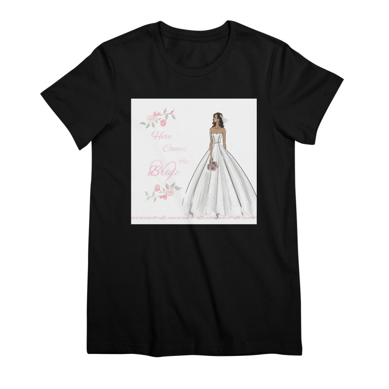 Here Comes the Bride - dark Women's Premium T-Shirt by deannakei's Artist Shop