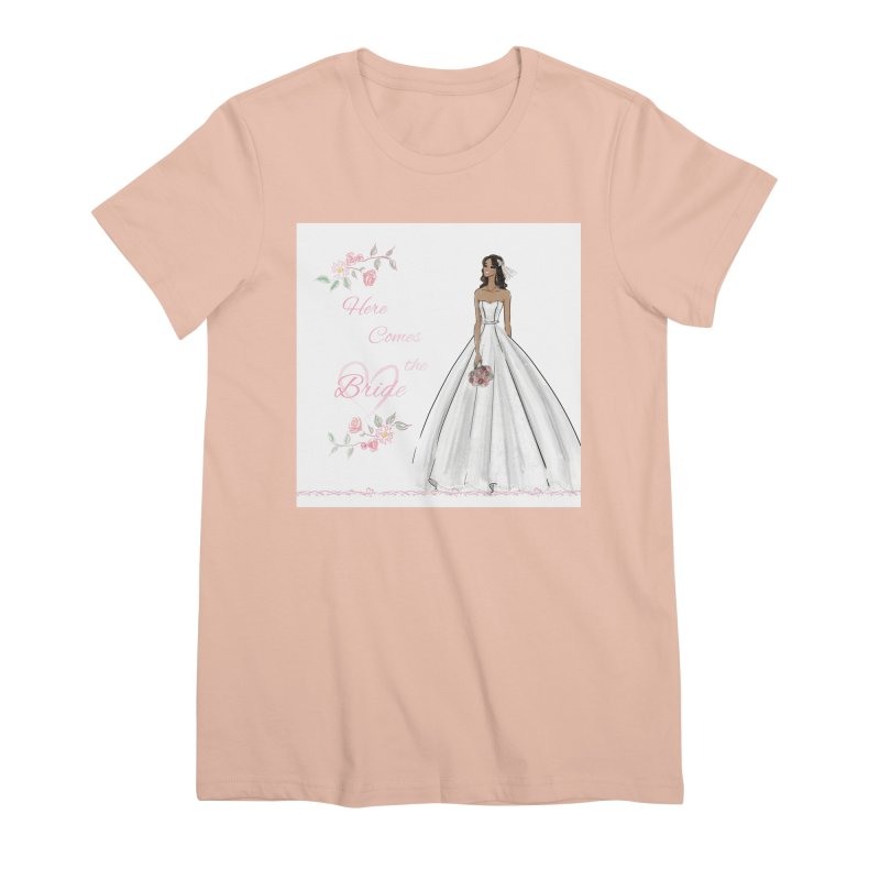 Here Comes the Bride - dark Women's Premium T-Shirt by Deanna Kei's Artist Shop