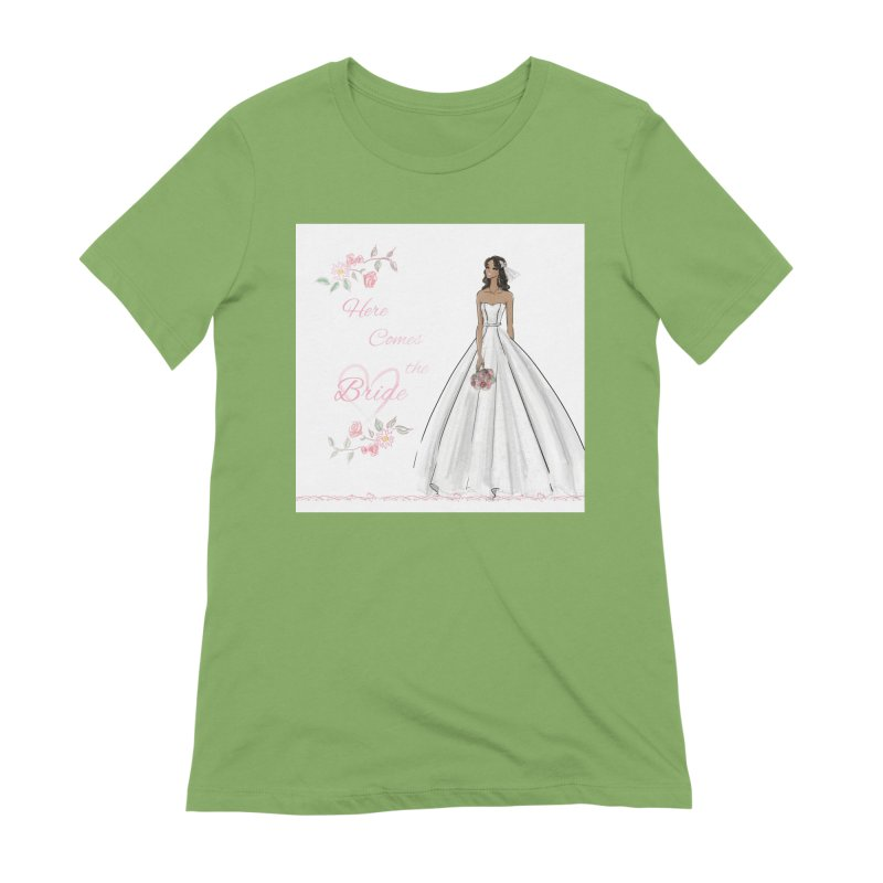 Here Comes the Bride - dark Women's Extra Soft T-Shirt by deannakei's Artist Shop