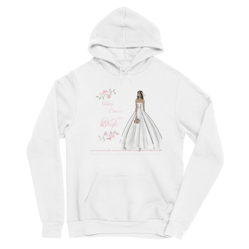 Here Comes the Bride - dark Women's Sponge Fleece Pullover Hoody by Deanna Kei's Artist Shop