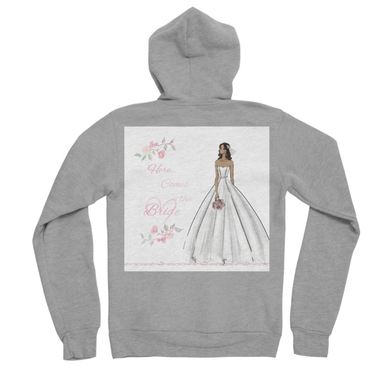 Here Comes the Bride - dark Women's Sponge Fleece Zip-Up Hoody by deannakei's Artist Shop