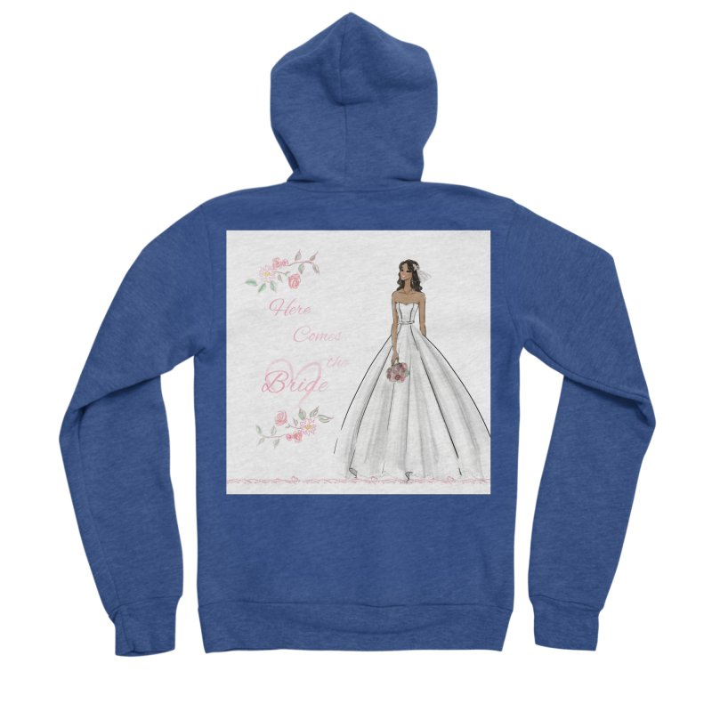 Here Comes the Bride - dark Women's Sponge Fleece Zip-Up Hoody by Deanna Kei's Artist Shop