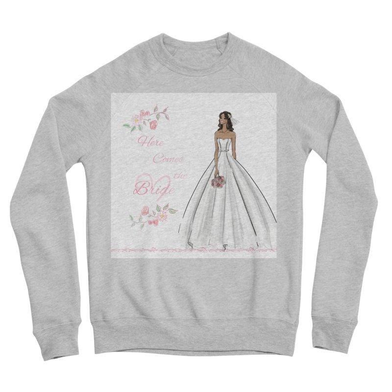Here Comes the Bride - dark Women's Sponge Fleece Sweatshirt by deannakei's Artist Shop