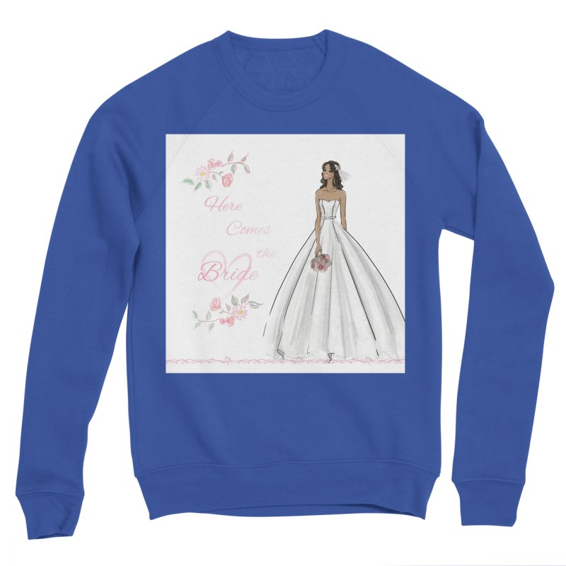 Here Comes the Bride - dark Women's Sponge Fleece Sweatshirt by Deanna Kei's Artist Shop