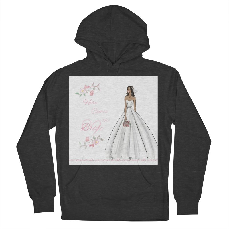 Here Comes the Bride - dark Women's French Terry Pullover Hoody by Deanna Kei's Artist Shop