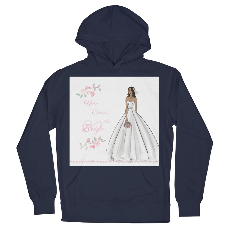 Here Comes the Bride - dark Women's French Terry Pullover Hoody by deannakei's Artist Shop