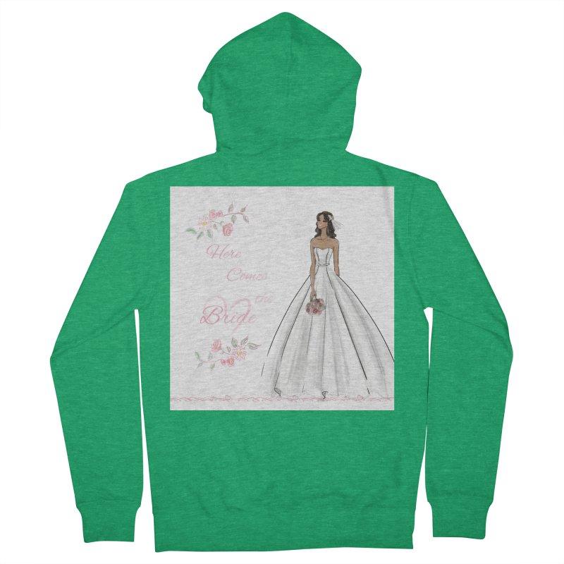 Here Comes the Bride - dark Women's Zip-Up Hoody by Deanna Kei's Artist Shop