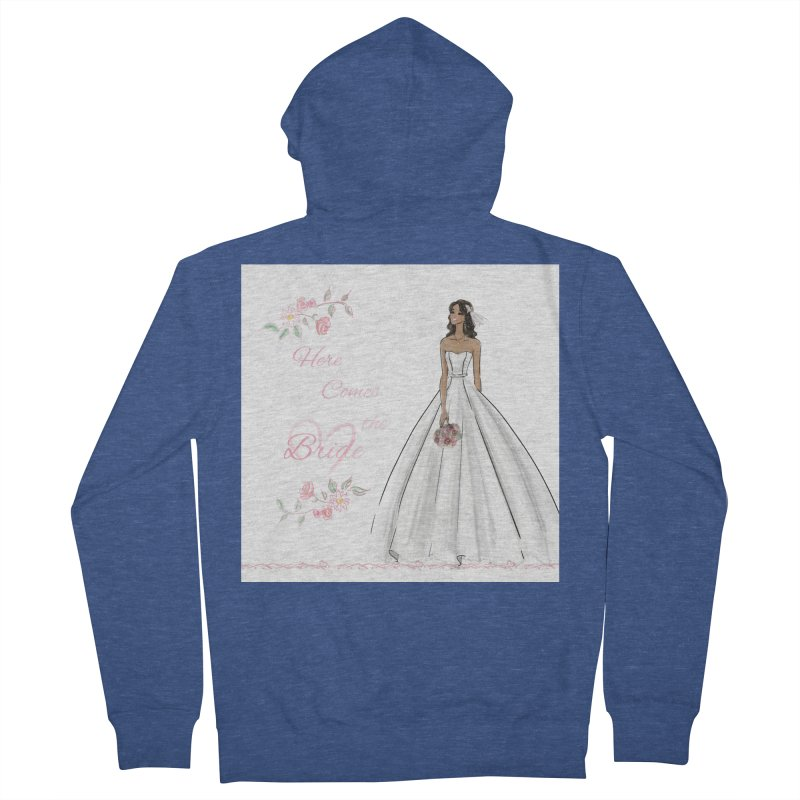 Here Comes the Bride - dark Women's French Terry Zip-Up Hoody by deannakei's Artist Shop