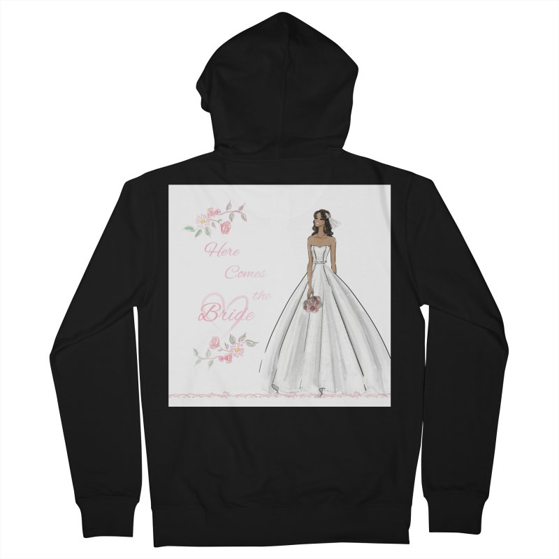 Here Comes the Bride - dark Women's French Terry Zip-Up Hoody by Deanna Kei's Artist Shop