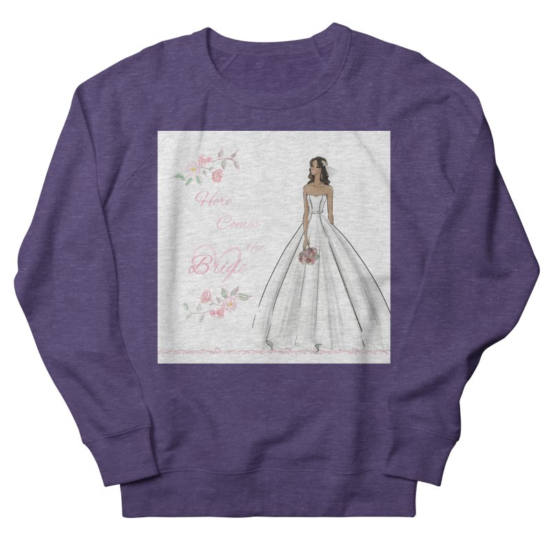 Here Comes the Bride - dark Women's French Terry Sweatshirt by Deanna Kei's Artist Shop