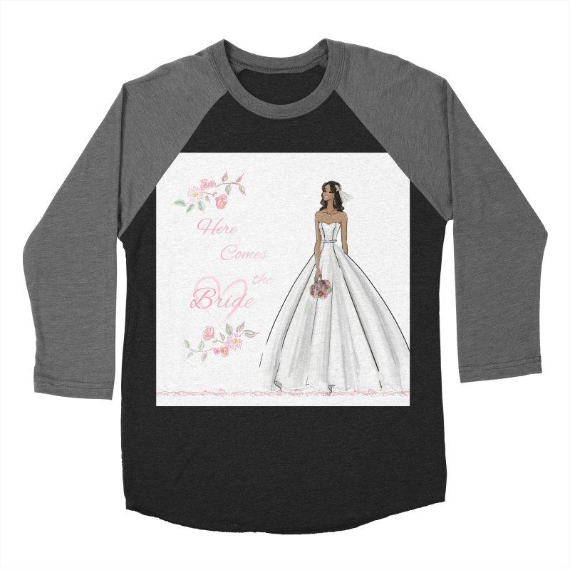 Here Comes the Bride - dark Women's Baseball Triblend Longsleeve T-Shirt by deannakei's Artist Shop