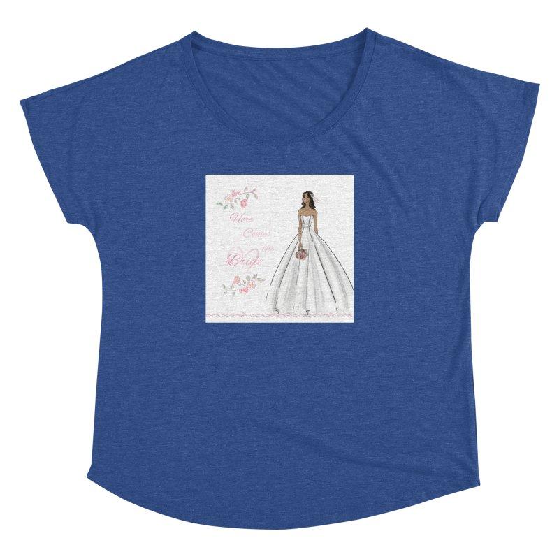 Here Comes the Bride - dark Women's Dolman Scoop Neck by Deanna Kei's Artist Shop