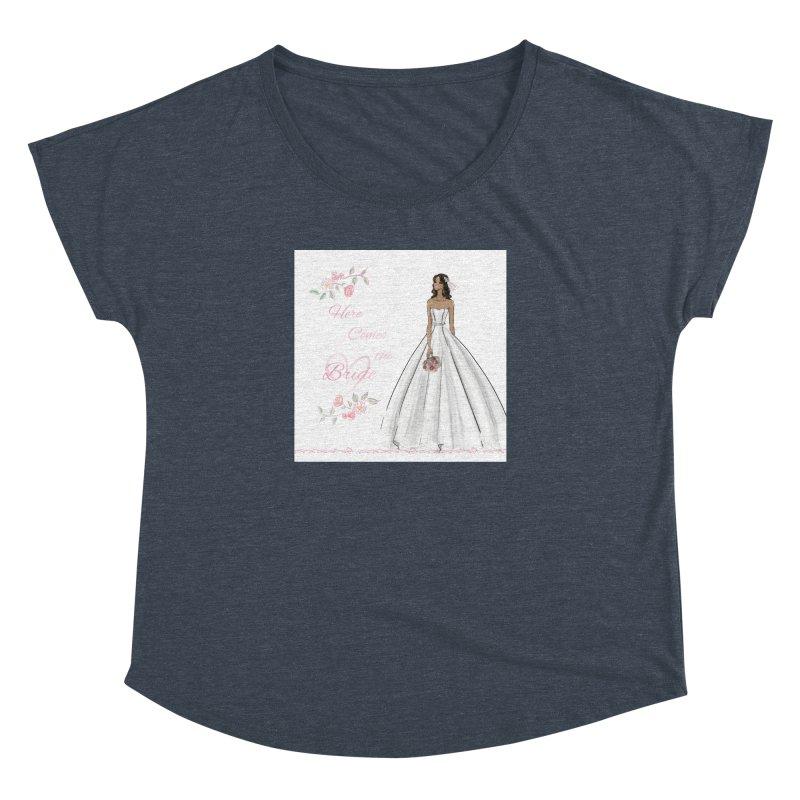 Here Comes the Bride - dark Women's Dolman Scoop Neck by deannakei's Artist Shop