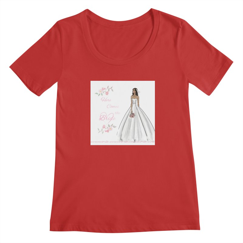 Here Comes the Bride - dark Women's Regular Scoop Neck by deannakei's Artist Shop