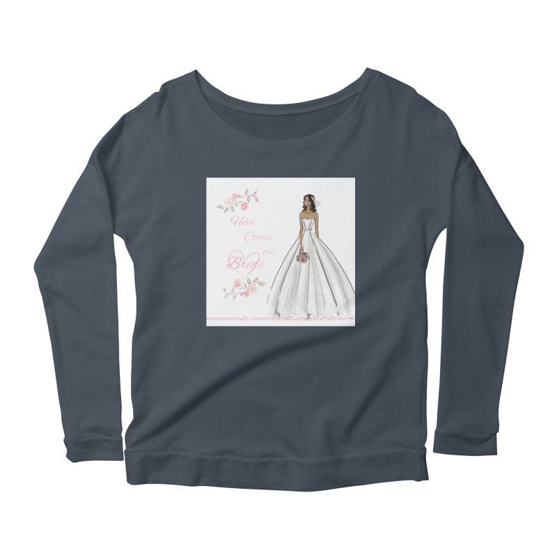 Here Comes the Bride - dark Women's Scoop Neck Longsleeve T-Shirt by Deanna Kei's Artist Shop