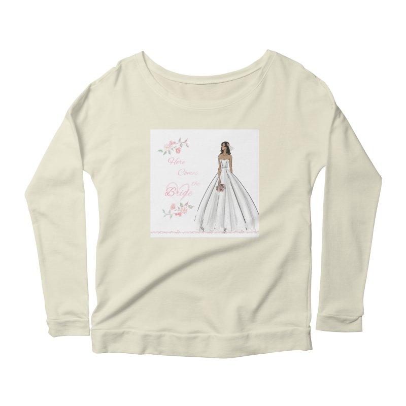 Here Comes the Bride - dark Women's Scoop Neck Longsleeve T-Shirt by deannakei's Artist Shop