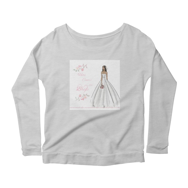 Here Comes the Bride - dark Women's Scoop Neck Longsleeve T-Shirt by Deanna Kei's Artist Shop