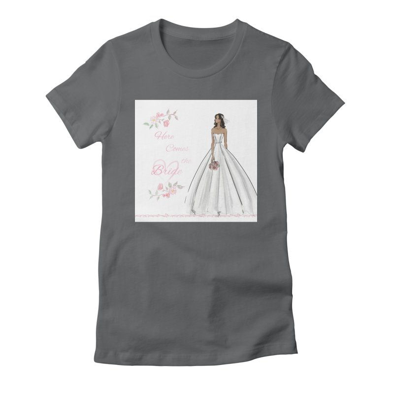 Here Comes the Bride - dark Women's Fitted T-Shirt by Deanna Kei's Artist Shop