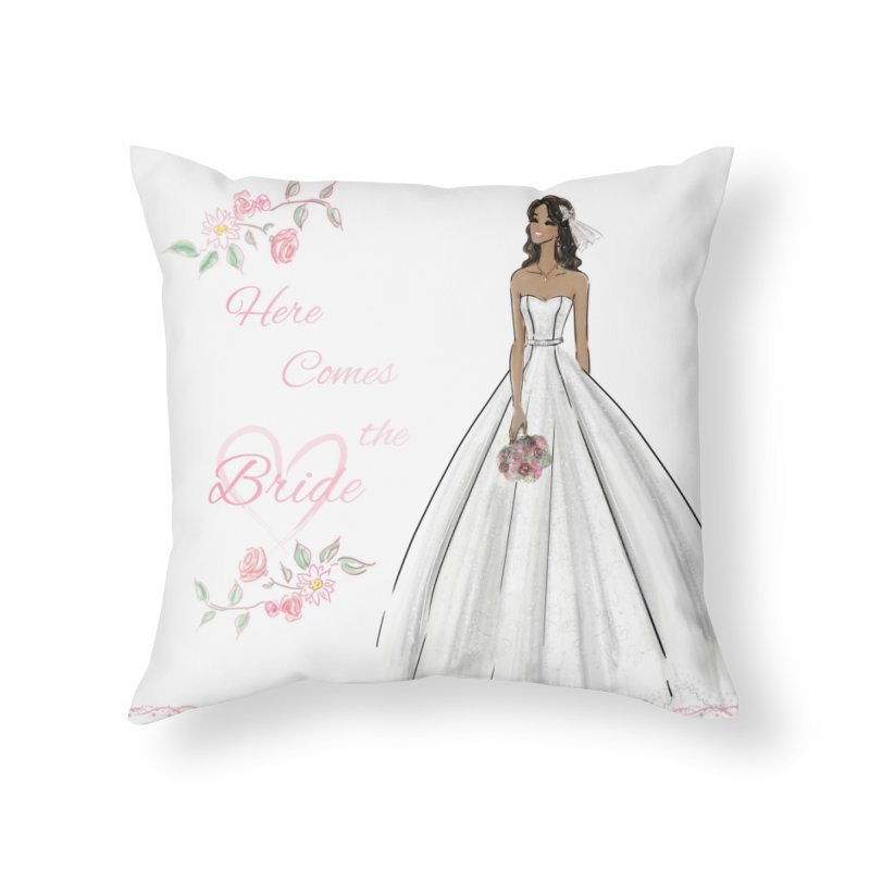 Here Comes the Bride - dark Home Throw Pillow by deannakei's Artist Shop