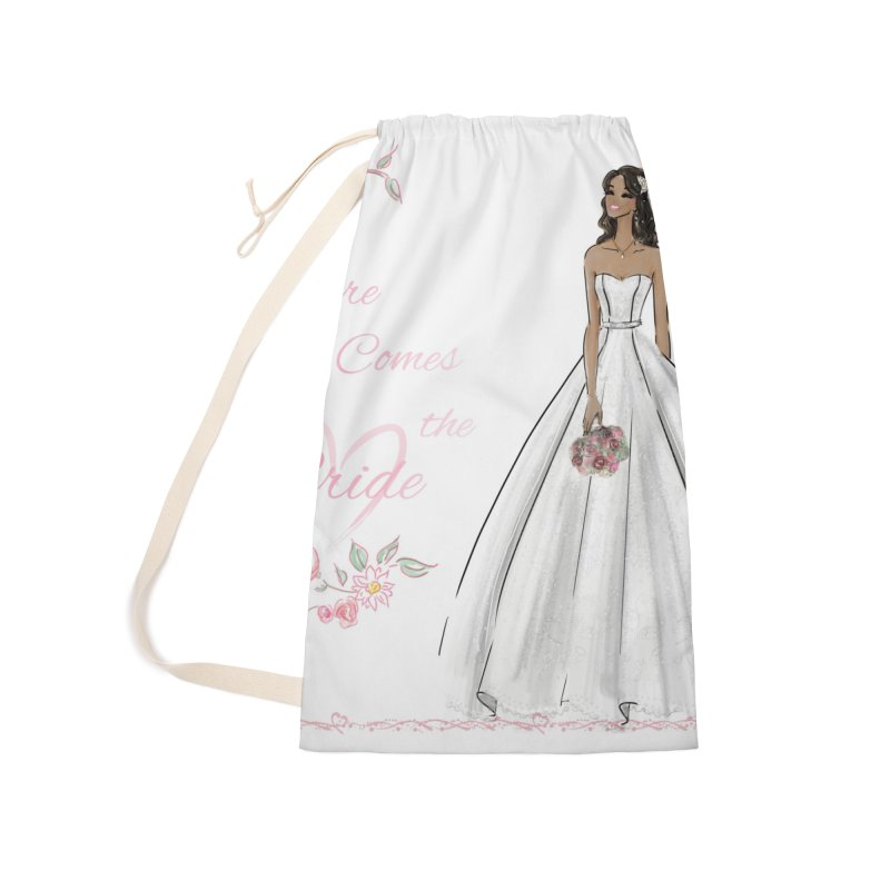 Here Comes the Bride - dark Accessories Laundry Bag Bag by deannakei's Artist Shop