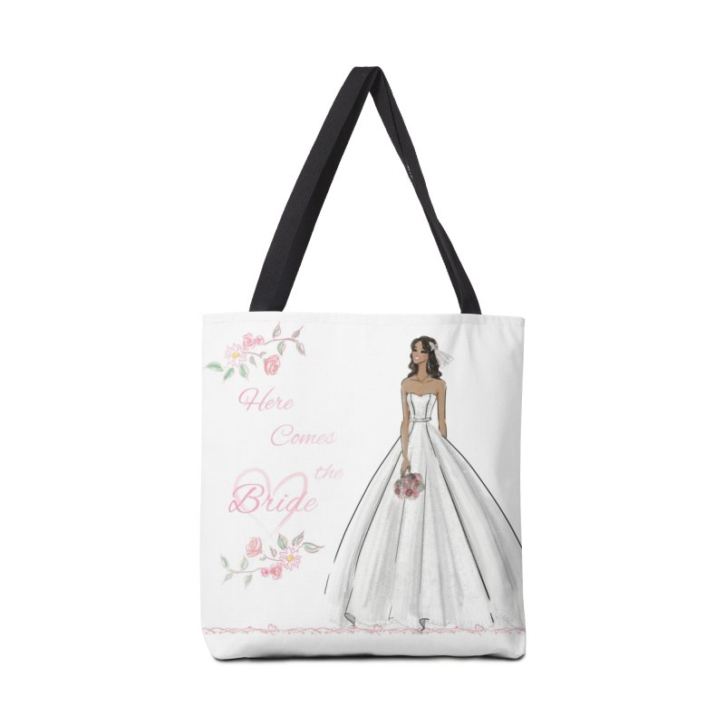 Here Comes the Bride - dark Accessories Tote Bag Bag by deannakei's Artist Shop