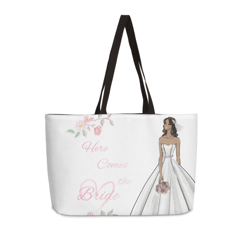 Here Comes the Bride - dark Accessories Weekender Bag Bag by deannakei's Artist Shop