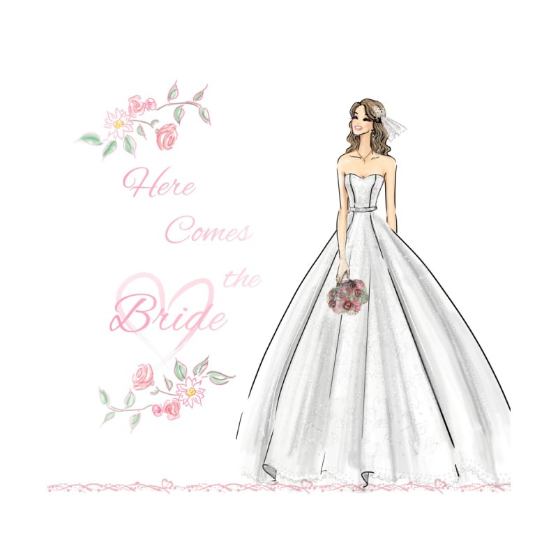 Here Comes The Bride- Light Accessories Bag by Deanna Kei's Artist Shop
