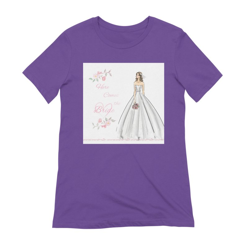 Here Comes The Bride- Light Women's Extra Soft T-Shirt by deannakei's Artist Shop