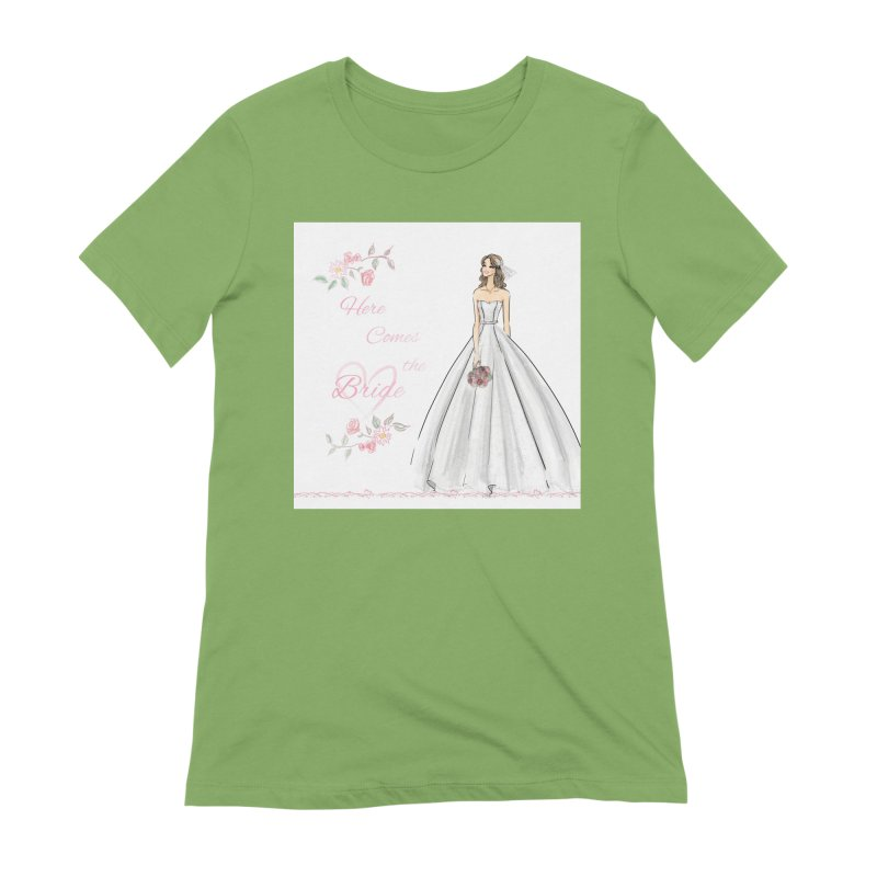 Here Comes The Bride- Light Women's Extra Soft T-Shirt by deannakei's Artist Shop