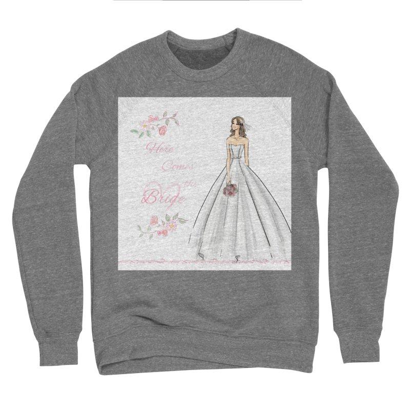 Here Comes The Bride- Light Women's Sponge Fleece Sweatshirt by Deanna Kei's Artist Shop