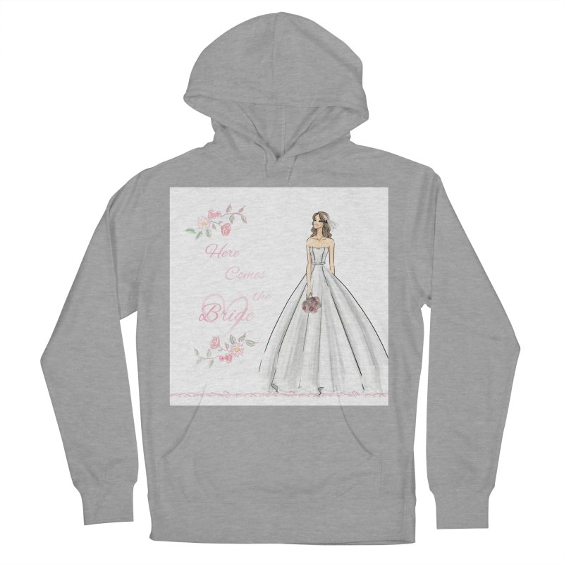 Here Comes The Bride- Light Women's French Terry Pullover Hoody by deannakei's Artist Shop
