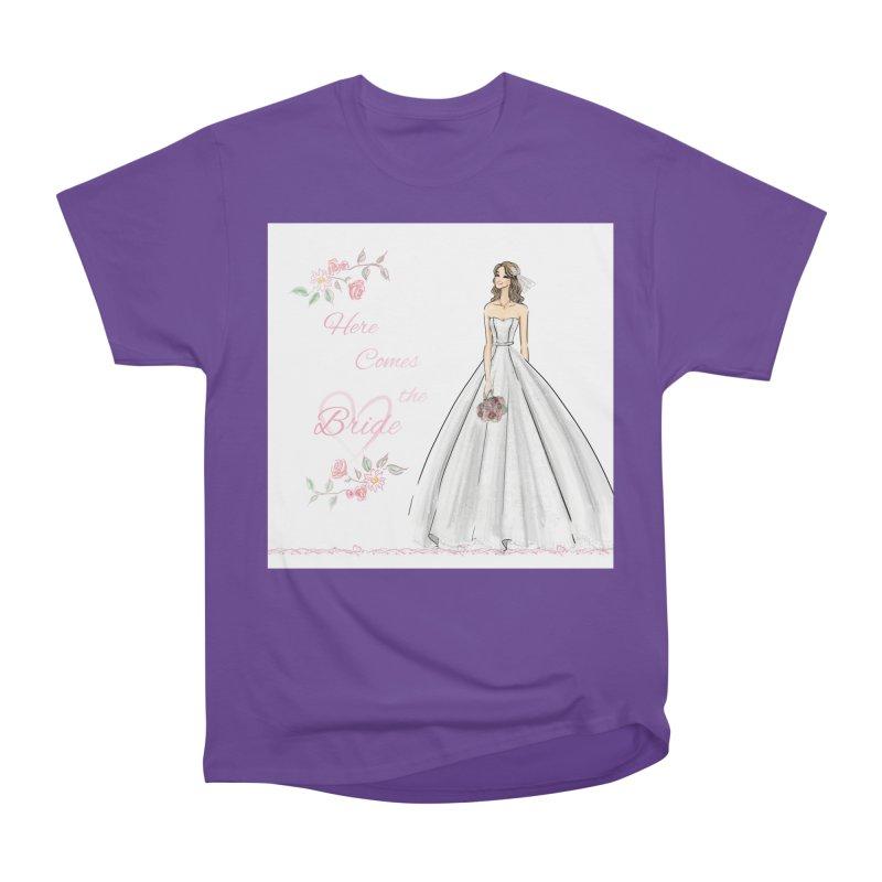 Here Comes The Bride- Light Women's Heavyweight Unisex T-Shirt by Deanna Kei's Artist Shop