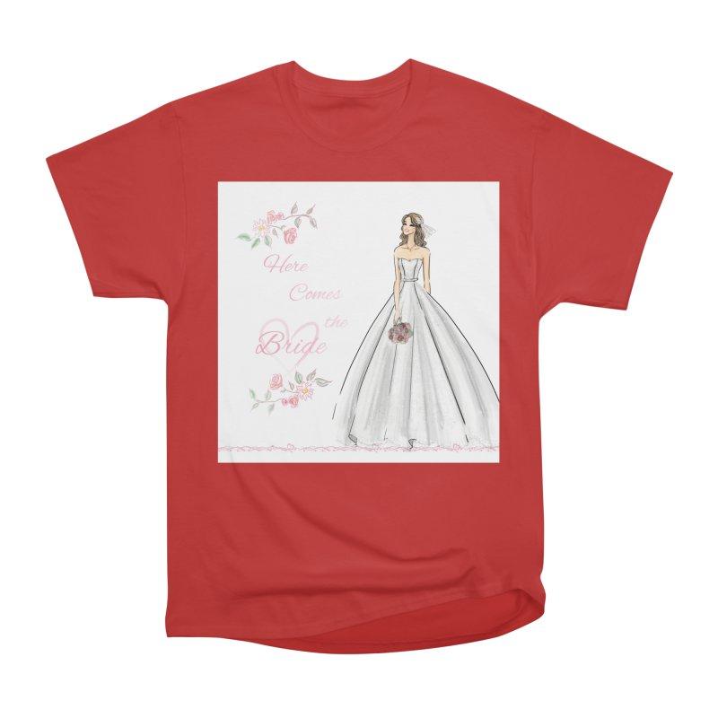 Here Comes The Bride- Light Women's Heavyweight Unisex T-Shirt by deannakei's Artist Shop