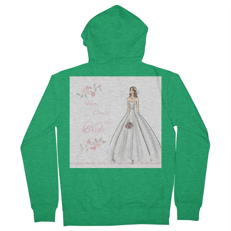 Here Comes The Bride- Light Women's French Terry Zip-Up Hoody by deannakei's Artist Shop