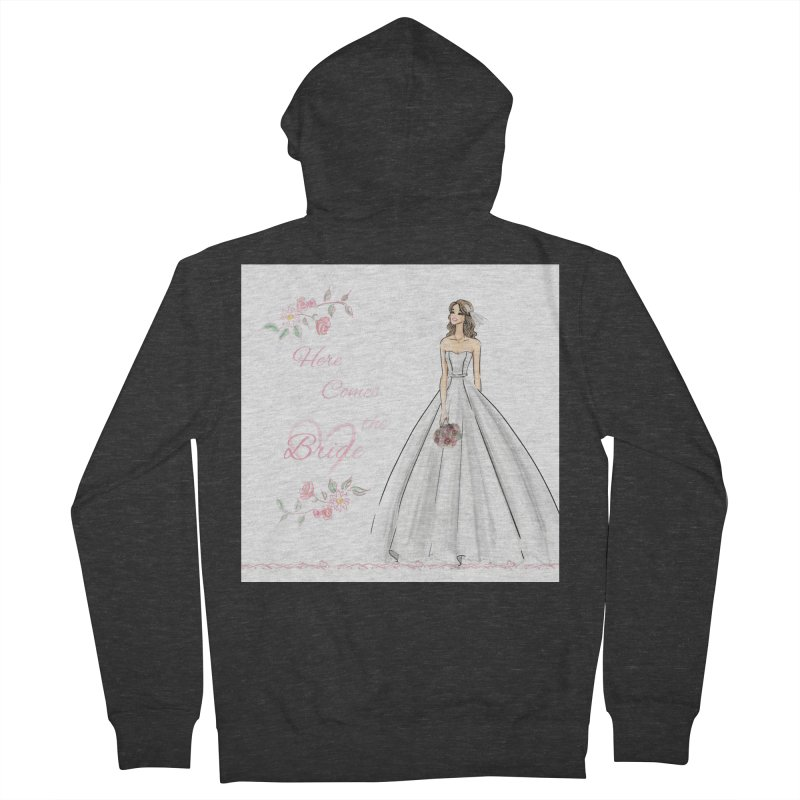 Here Comes The Bride- Light Women's French Terry Zip-Up Hoody by Deanna Kei's Artist Shop