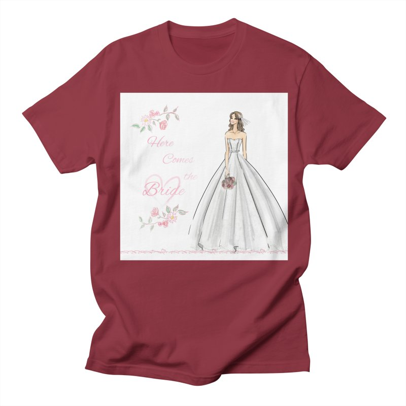 Here Comes The Bride- Light Women's Regular Unisex T-Shirt by Deanna Kei's Artist Shop