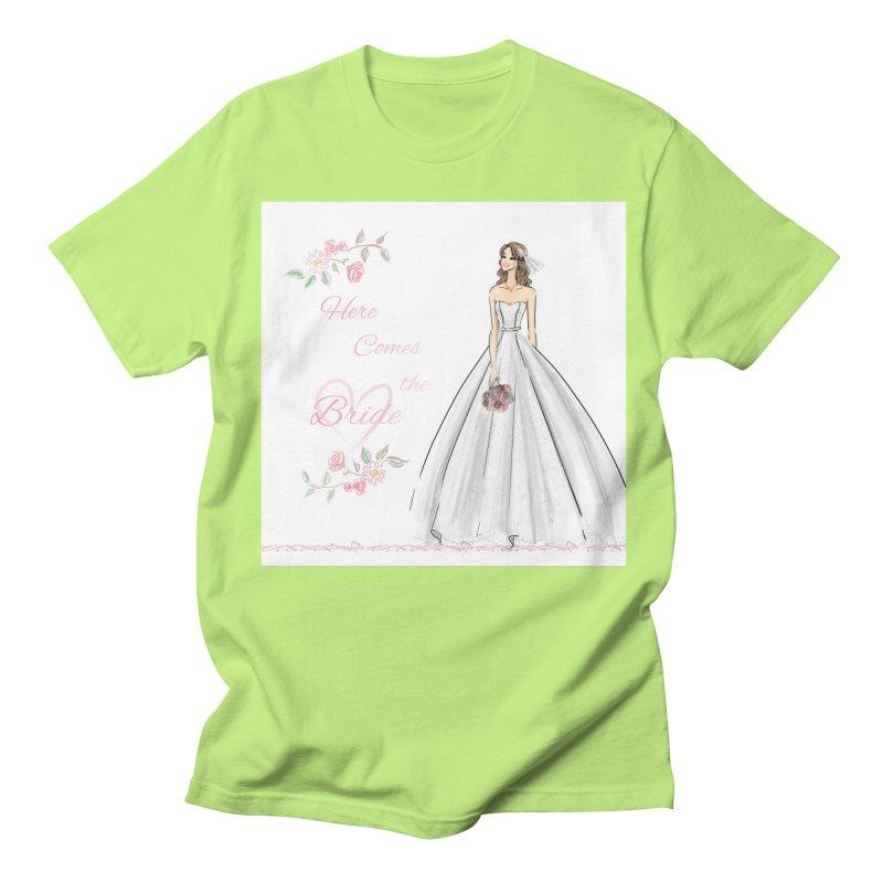 Here Comes The Bride- Light Women's Regular Unisex T-Shirt by Deanna Kei's Artist Shop